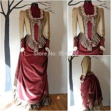 R-838, винтажные костюмы, 1860 s, платья в викторианском стиле с балом в стиле южной Белль