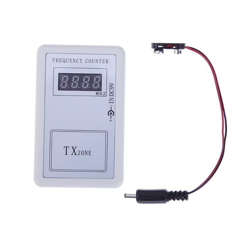 DC7.5V-10V Télécommande Sans Fil Fréquence Compteur Compteur pour la Voiture Auto Clé Télécommande Détecteur Cymometer Câble D'alimentation