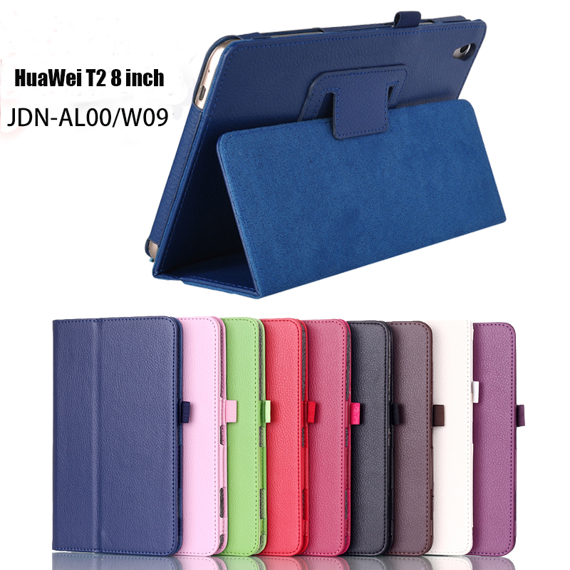 For Huawei Mediapad T2 8.0 Stand Pu Leather Case Cover For Huawei Honor tablet 2 JDN-W09 AL00 8.0 cases+stylus