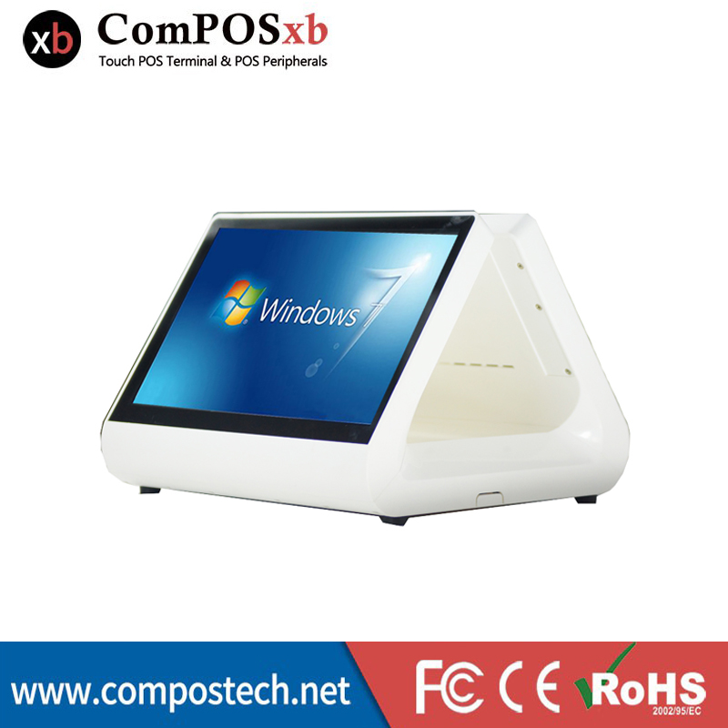 Free Shipping 12 inch Lcd monitor dual screen POS cash register touch all in one pc pos machine for restaurant and retail indust eyoyo c15 tft vga 15 touch screen lcd pos monitor retail restaurant bar pub touchscreen 1024x768 free shipping