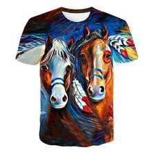 2019 Summery  Horse T shirt For Men 3d Print Animal Casual Fashion Shirt Short Sleeve Cool Tees Tops Streetwear