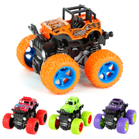 Four-Wheel Drive Inertial Vhicle Toys For Baby Kids Rotating Stunt Vehicle Four Independent Spring Design Anti-Shatterproof Car