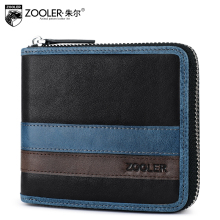 ZOOLER 2017 patchwork Genuine Leather wallets men purses top quality wallets leather clutch bag card holder cowhide#31113