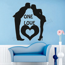 One Love Baby Wall Sticker Beautiful Modern Love Style Wall Decoration Vinyl Art Removeable Poster Mural Decals Stickers LY825 цена и фото