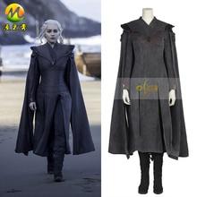 Game of Thrones Season 7 Cosplay Costume Daenerys Targaryen Cosplay Outfit Halloween Adult Women Dress Party Costume Custom Made