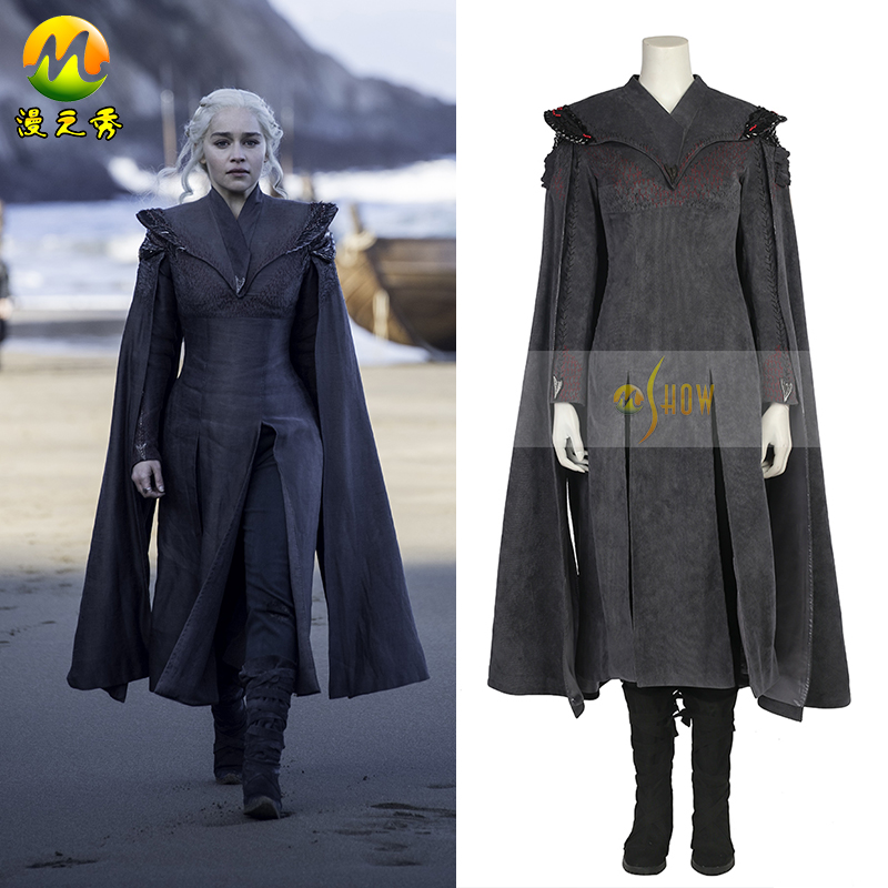 Top Quality Game of Thrones Daenerys Targaryen Cosplay Costume Season 7 Daenerys Targaryen Costume For Halloween Party Women