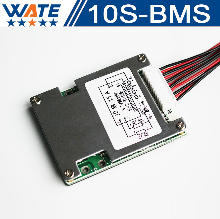10S 36V 10A/15A BMS Used for 36v 10ah 12ah 15ah battery 15A 3.6V/3.7V cell continuous 50A peak discharge With balance function free customs duty 36v 28ah battery pack 1500w 36 v lithium battery 28ah use samsung 3500mah cell 50a bms with 2a charger