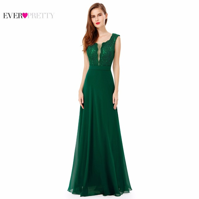 [Clearance Sale] Evening Dresses 2017 Ever Pretty HE08628 Sleeveless Lace Women Long Formal Party Chiffon Evening Dresses