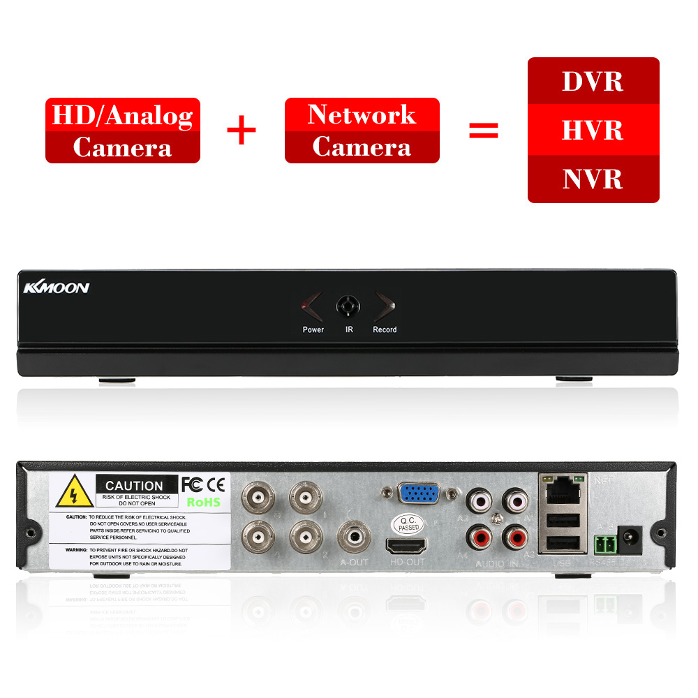 KKmoon 4CH AHD DVR H 264 HDMI1080P P2P Onvif 4 Channel AHD NVR Digital Video Recorder