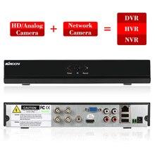 KKmoon Grabadora de vídeo Digital para vigilancia de Kit CCTV, 4CH AHD DVR H.264 HDMI1080P P2P Onvif, AHD NVR de 4 canales