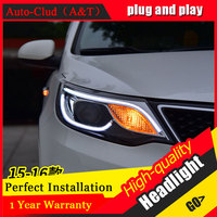 Auto Clud Car Styling For Kia K2 Headlights 2015 2016 For K2 Head Lamp Led DRL