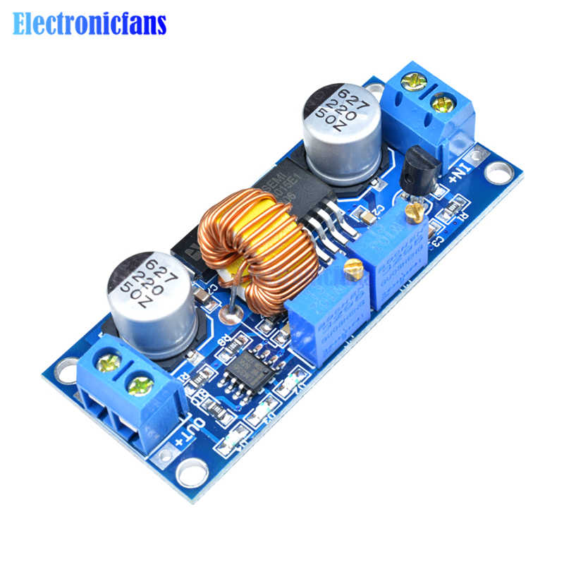 High Efficiency! CC/CV 5A Lithium Charger Board XL4015 Adjustable 6-38V To 1.25-36V DC Step Down Power Supply Buck Module