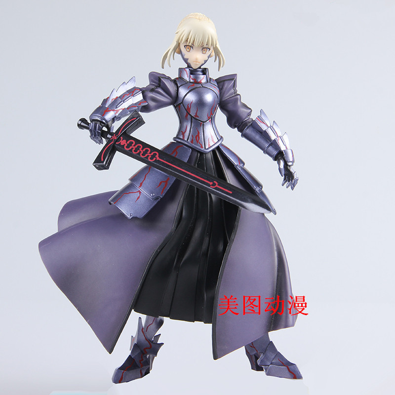 NEW hot 24cm fate stay night saber movable collectors action figure toys Christmas gift doll