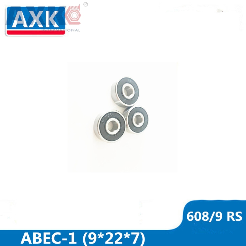 AXK <font><b>608</b></font>/<font><b>9</b></font> Bearing <font><b>ABEC</b></font>-1 ( 4 PCS ) 9x22x7 mm Miniature <font><b>608</b></font>/<font><b>9</b></font> RS <font><b>2RS</b></font> Ball Bearings <font><b>608</b></font>-<font><b>9</b></font> <font><b>2RS</b></font> <font><b>608</b></font>/9RS Bearing image
