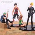 Аниме One Piece Луффи Зоро Санджи Nami PVC Фигурки Коллекция Модель Игрушки 4 шт./компл.