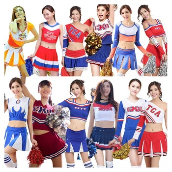 Cheerleader Costume Women Football Baby Lady Cheerleading Costumes Boys Girls Stage Performance Dresses Men Kids Adults Uniforms