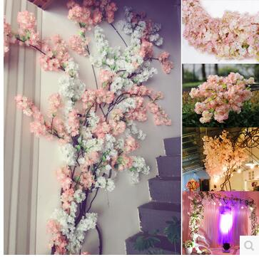 5pcs Simulation Of Pear Tree Branch Four Prong Leaf Cherry Blossom Garden Arch Wedding Decoration Living In Artificial Dried