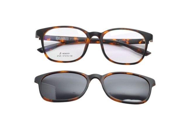 DEDING Fashion Glasses With Magnetic Clip On Sunglasses Myopia Driving Glasses Polarized Sunglasses Clip On Dual Purpose DD1415
