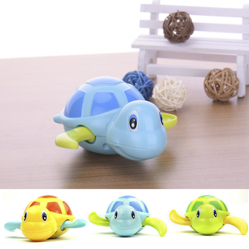 1Pcs New Swimming Animal Turtle Pool Toys for Baby Children Kids Toddler Bath Time Play Water Kids Bath classical toy bath toys