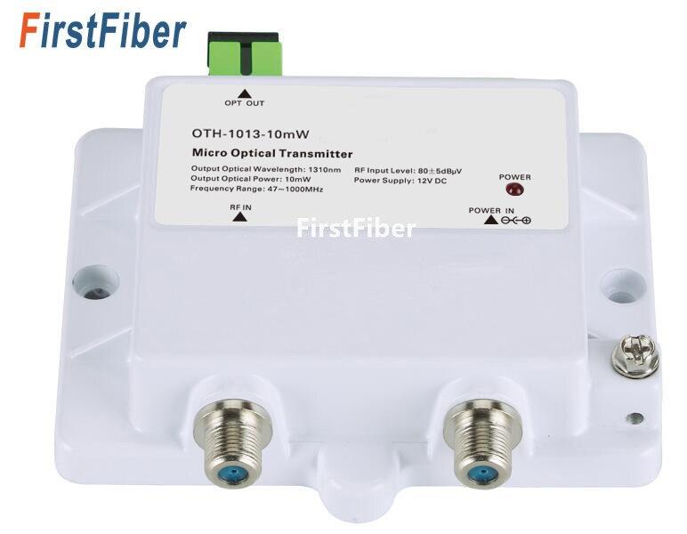 1013-10 mW Micro Émetteur Optique FTTH 12 V CATV Mini Micro Émetteur 47-1000 MHZ 1310nm 1550nm fiber optique avec SC/APC