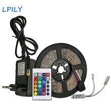 LPILY 2835 RGB Светодиодные ленты свет Водонепроницаемый светодио дный ленты 5 м 10 м 15 м 20 м SMD светодио дный ленты дома Fiexble DC12V адаптер Набор украшения