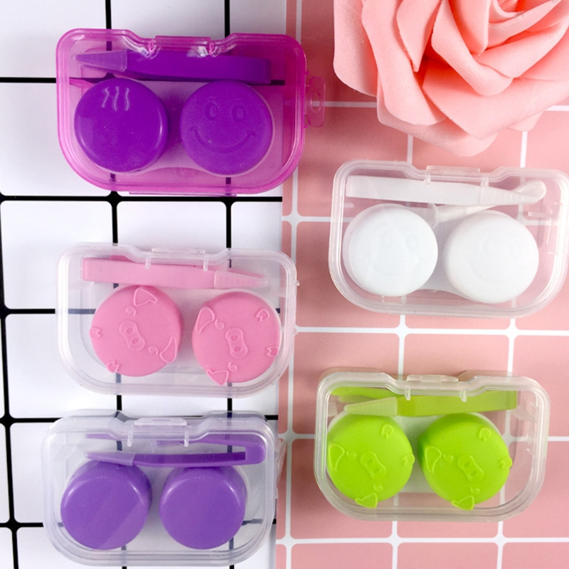Hot New 1 Pc Mini Contact Lens Box Transparent Travel Portable Case Storage Container Objectives