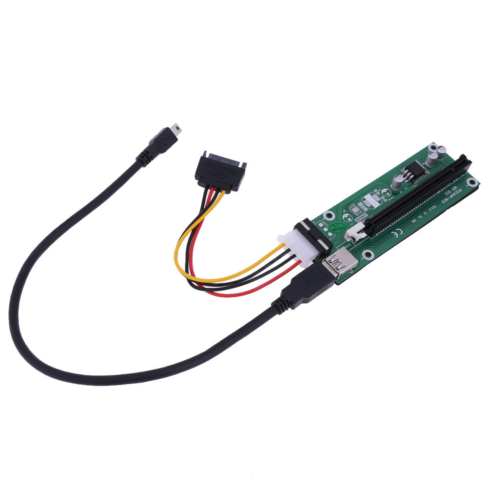 NGFF M.2 to PCI-E 16X Extender Riser Card PCI Express 1x to 16x Extension Converter Board with 40cm USB 3.0 Cable for BTC Miner usb 2 0 to rs232 dongle with extension cable color assorted