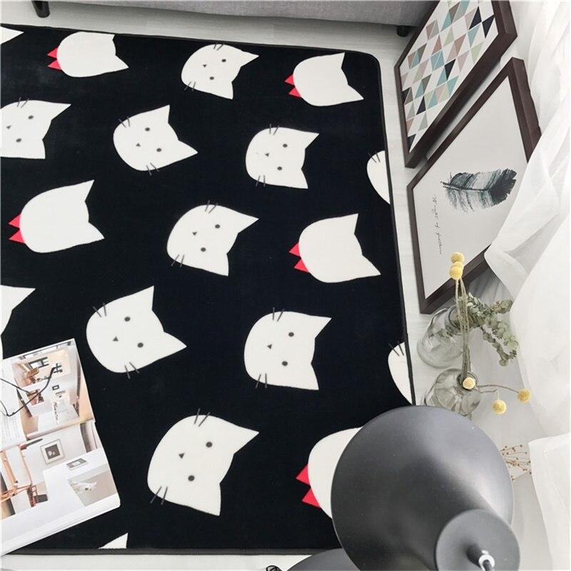 Mode noir blanc feuille flèche salon chambre décoratif tapis zone tapis salle de bain cuisine pied porte Yoga bébé tapis de jeu - 5