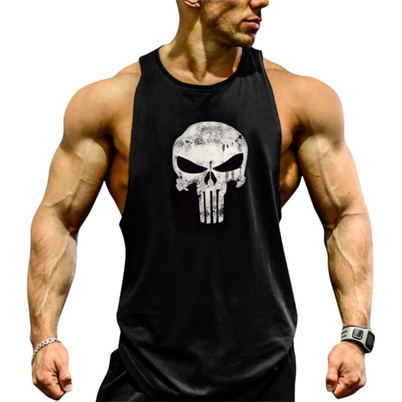 Gym Rabbit Gym Men/'s Muscle T-Shirts Tank Tops Cotton Sleeveless Workout MMA