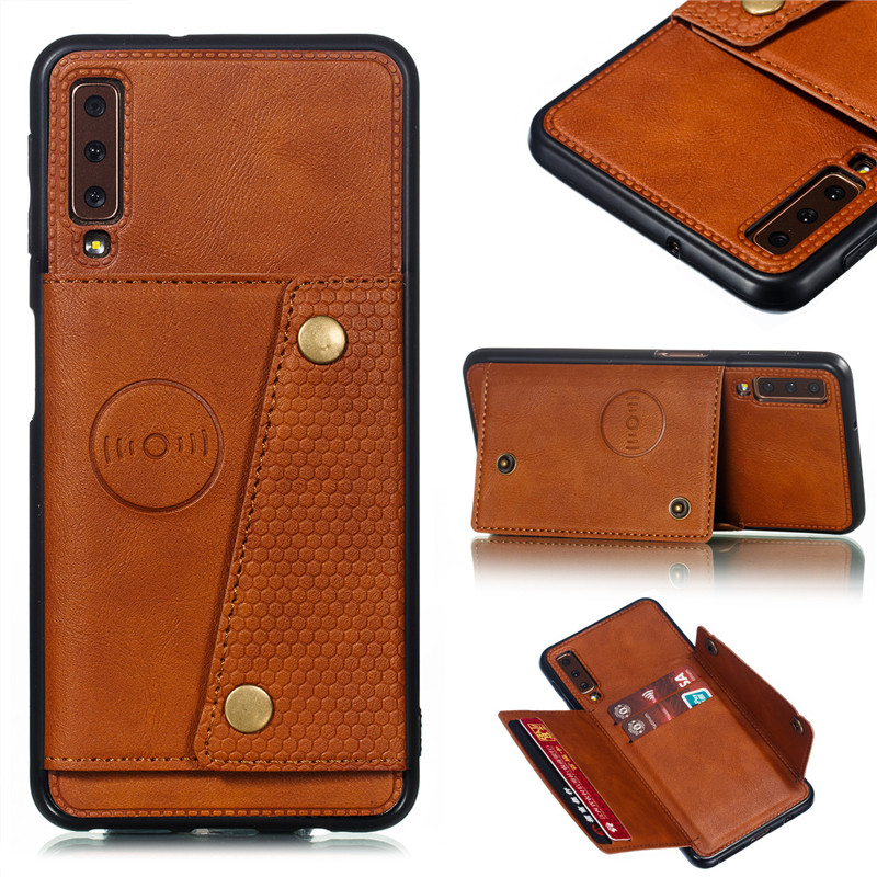 Wallet PU Leather Stand Silicone Phone <font><b>Case</b></font> For <font><b>Samsung</b></font> <font><b>Galaxy</b></font> S8 S9 S10 Plus Note 10 <font><b>A6</b></font> A7 J4 J6 Plus <font><b>2018</b></font> Card Slot <font><b>Flip</b></font> Cover image