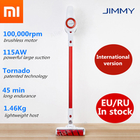 UE/RU en stock Xiaomi LEXY JIMMY JV51 limpiador de vacío inalámbrico de mano eliminar ácaros fuerte succión y bajo ruido