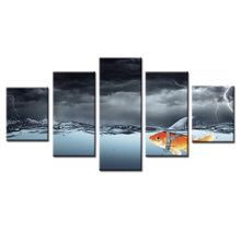 Factory wholesale Abstract fish poster Painting Custom Canvas Print On Printing Wall Pictures Home Decoration