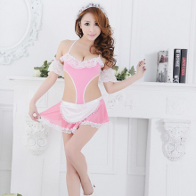 Summer Novelty Maid Sexy Lingerie Lace Maid Outfit Lingerie Role Play Uniform Suit Temptation Sex Products Free Shipping 40088