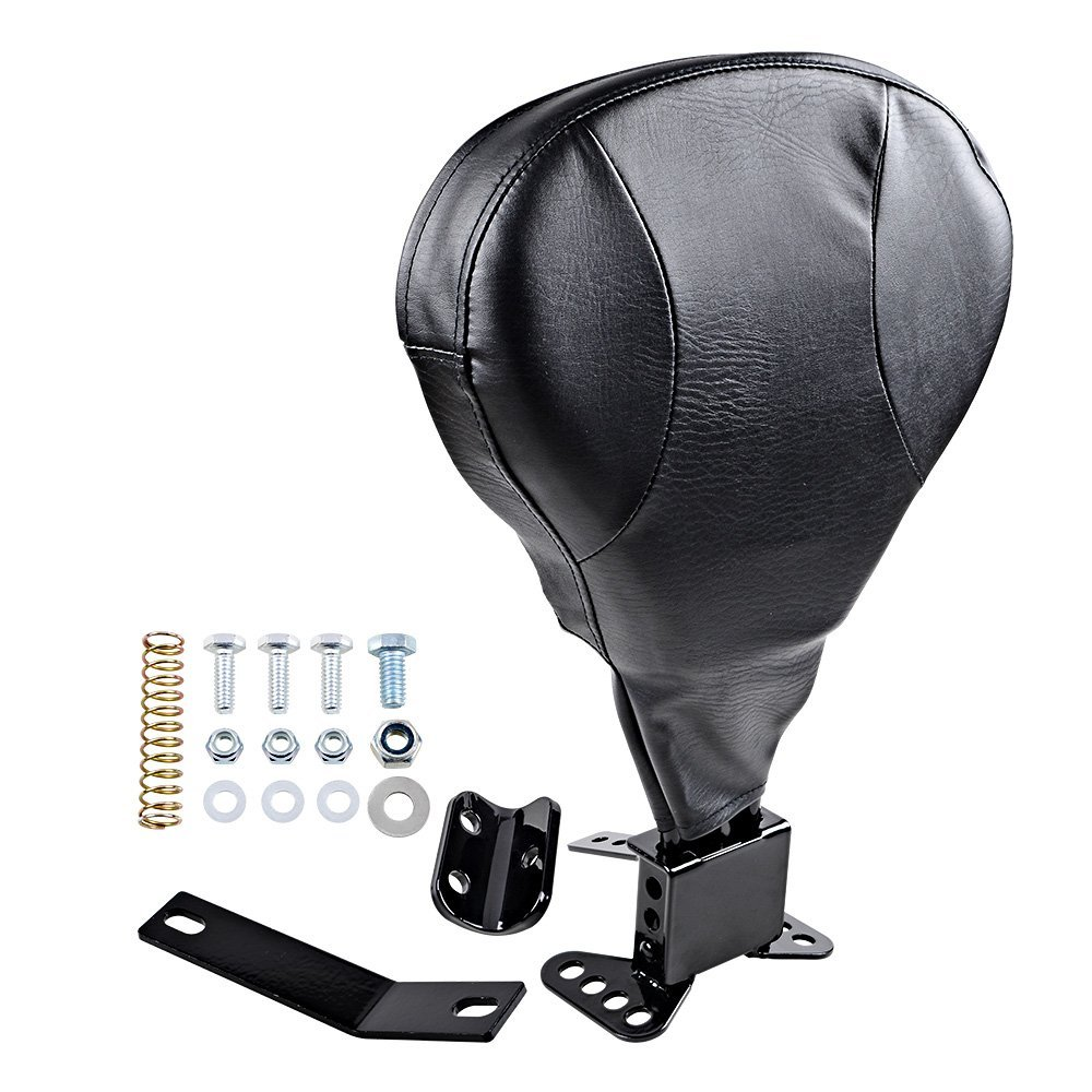 Motorcycle Adjustable Driver Rider Backrest For Harley Touring Road King Street Glide Electra Glide Road Glide FLHR Back Rest 09 pair air deflector windshield side wings dark tint smoke for harley electra glide road kingstreet glide motorcycle