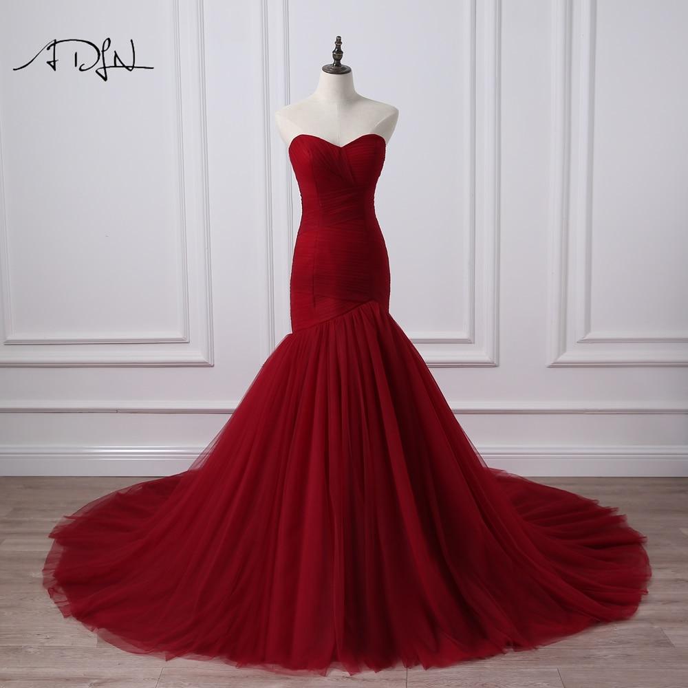 Bodice Wedding Gown: ADLN Real Photo Corset Bodice Mermaid Wedding Dress