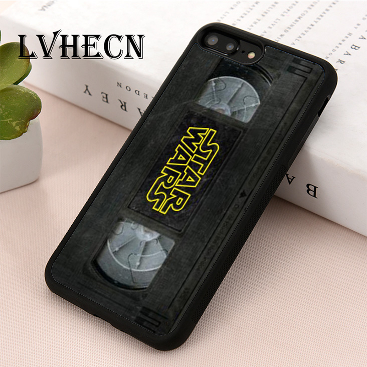 LvheCn TPU Skin phone case cover for iPhone 5 5s SE 6 6s 7 8 plus X XS XR 11 Pro Max Vintage Star Wars Film VHS Tape image