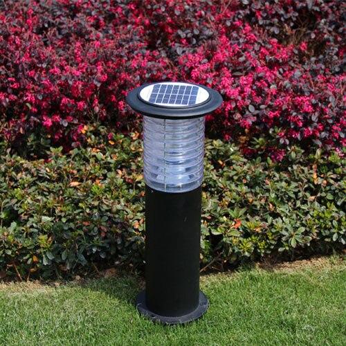 LED solaire alimenté en plein air jardin lumière pelouse lampe voie coulée en aluminium acrylique chapeau LED Yard lumières solaires avec interrupteur marche/arrêt - 2