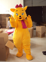 Yellow magic cat of the cat size mascot costume fancy dress free shipping