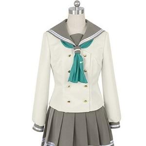Image 4 - Lovelive Sunshine Aqours Tsushima Yoshiko Cosplay Kostuum Japanse Anime Liefde Live Meisje Sailor School Uniform Pak Kleren