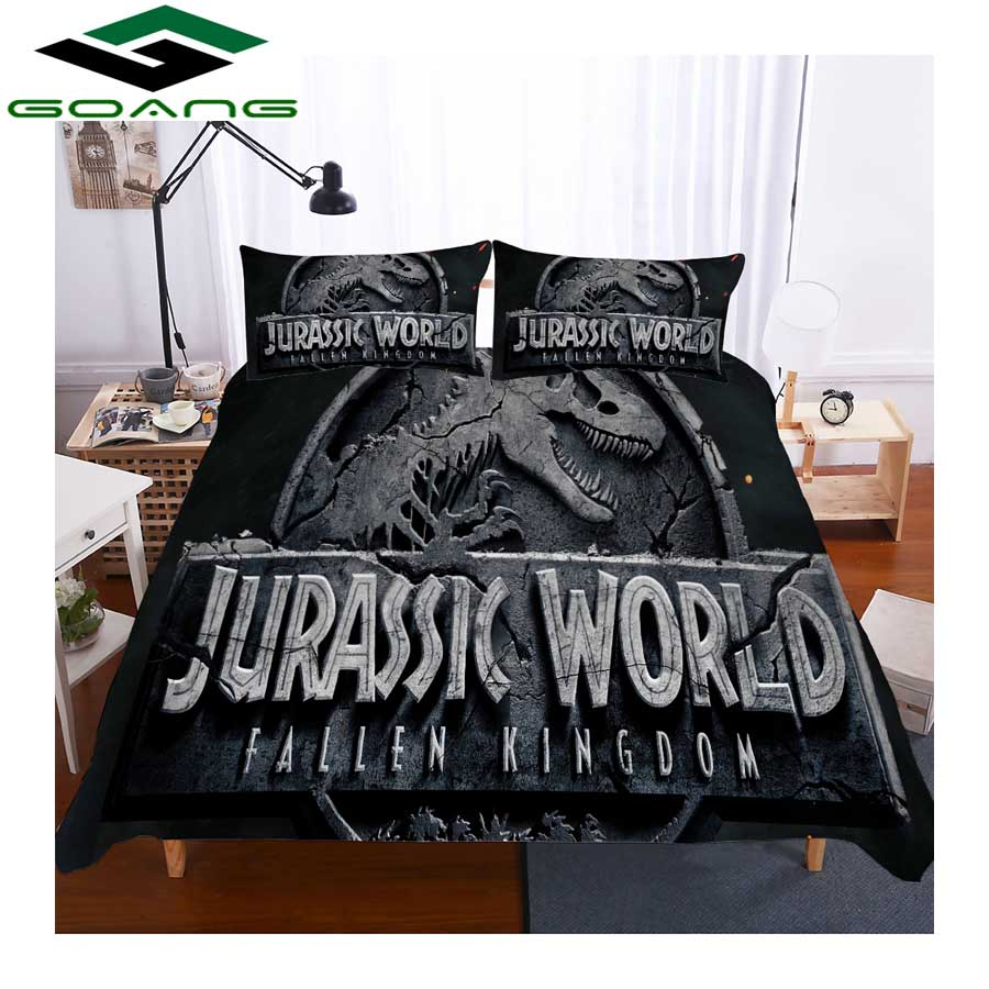 GOANG Luxury Home Textiles Boy Bedding Sets 3d Digital Printing Dinosaur 3pcs Full Size Bedding Sets Child Room Decoration
