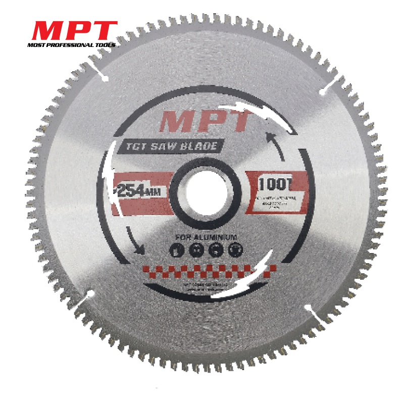 MPT 1Pc Circular Saw Blade for Aluminum Cutting Woodworking 254mm 100T YG8 TCT Alloy PVC Pipe Soft Metal Power Drill Tools 10 254mm diameter 80 teeth tools for woodworking cutting circular saw blade cutting wood solid bar rod free shipping