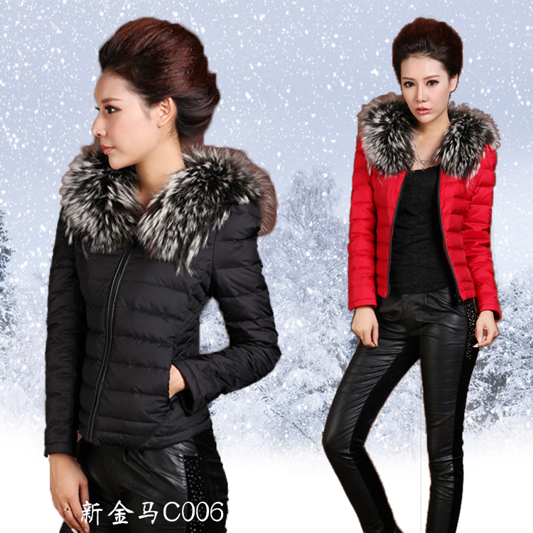 2013 Winter New Short Thick Slim Down Padded Jacket Women'S Genuine Fashion Warm Pleated Outwear Clothing Free Shipping H1516