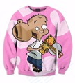 Real USA Size Custom Made Johnny Ed Edd N Eddy x Jawbreaker 3D Sublimation print Crewneck Sweatshirts plus size