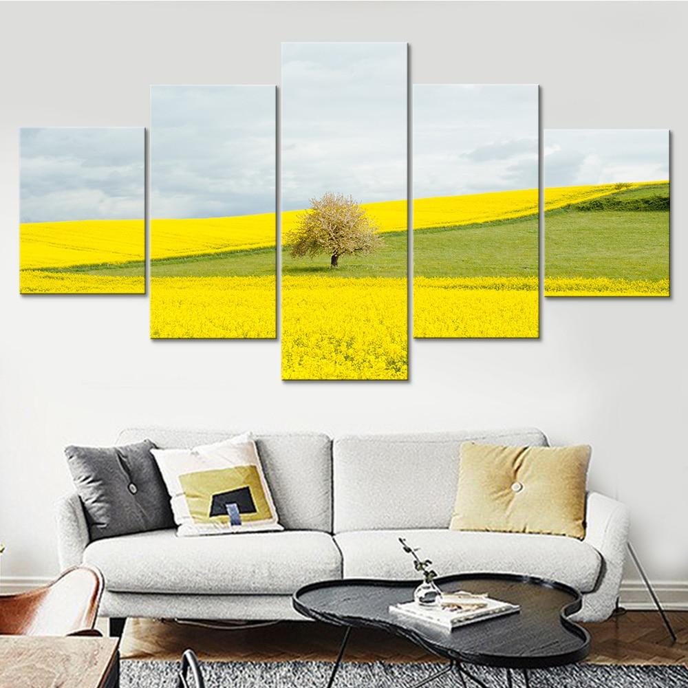 Canvas HD Prints Poster Modular Wall Art Pictures Framework 5 Panels ...