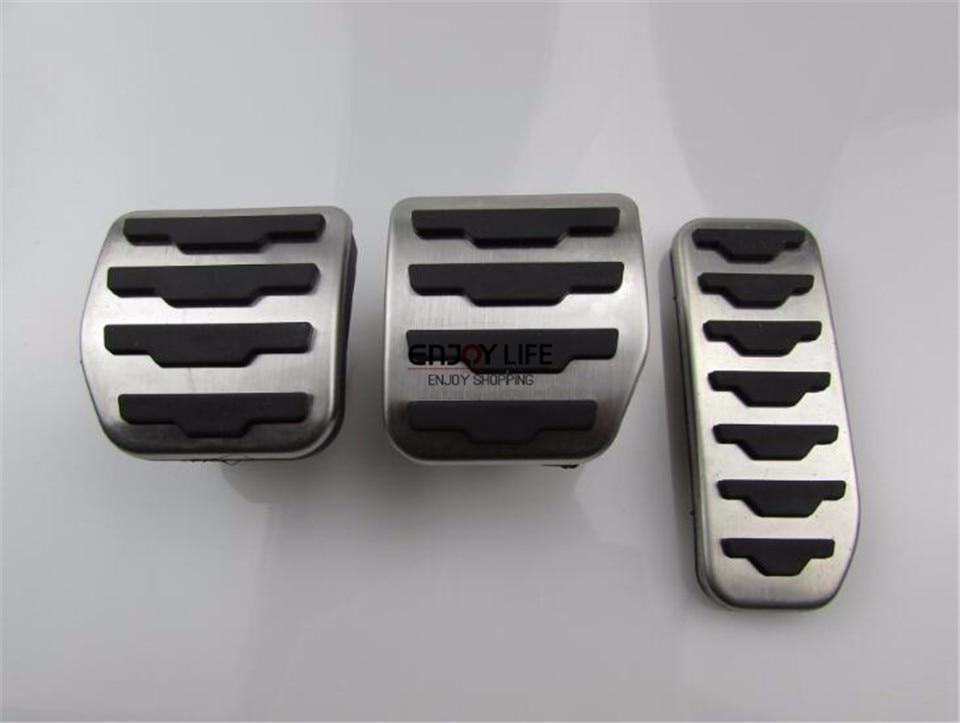 3 шт. MT Нержавеющаясталь газового топлива сцепные педаль Обложка для LR Range Rover Ev ...