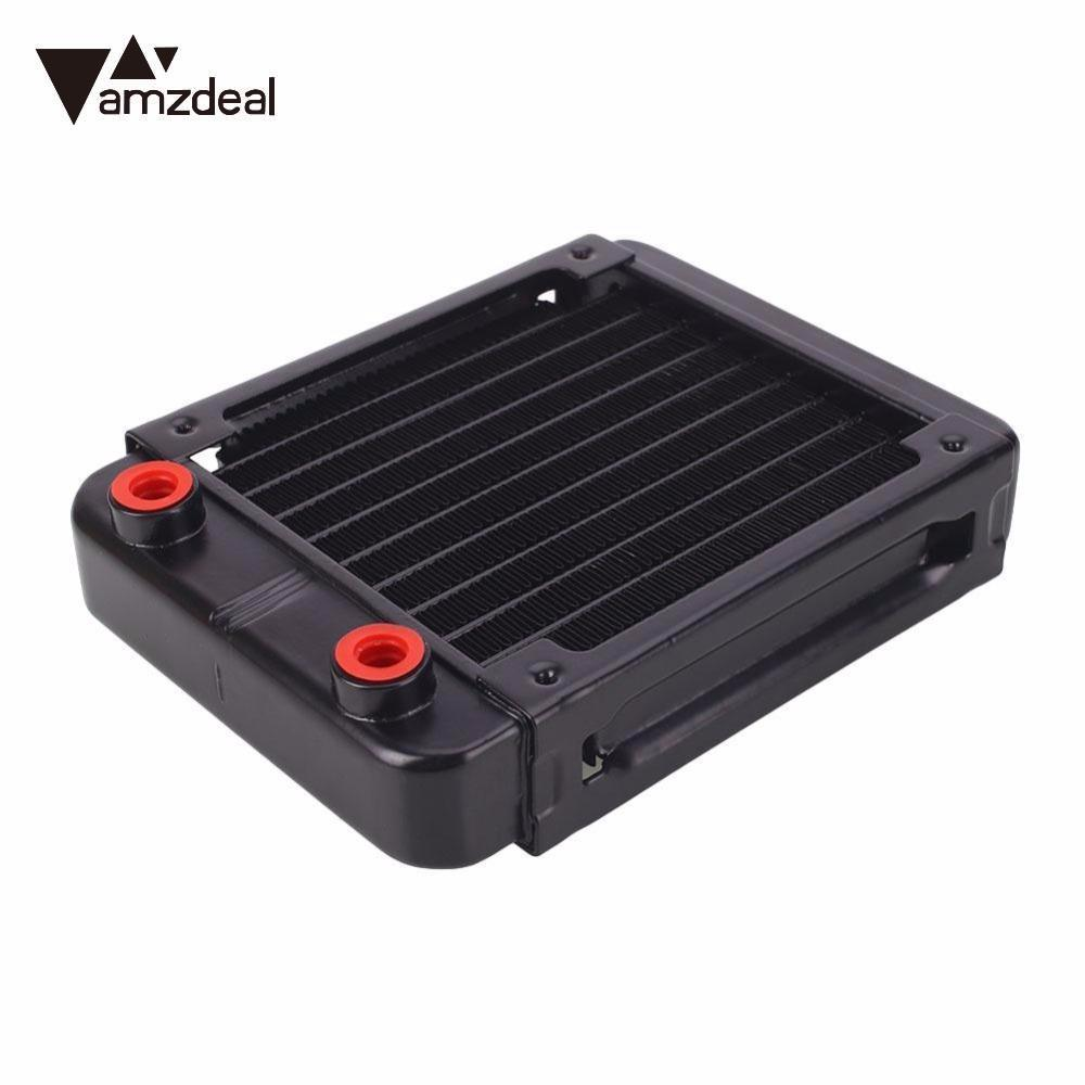 AMZDEAL 120/240mm Auminium Heat Sink Water Cooling Radiator Universal Practical G4/1 10 Pipes  for Computer Case CPU GPU copper water cooling block for gpu cpu radiator liquid heatsink heat sink cooled