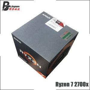 Image 1 - AMD Ryzen 7 2700X R7 2700X 3.7 GHz Eight Core Sixteen Thread CPU Processor L3=16M 105W YD270XBGM88AF Socket AM4 New and with fan
