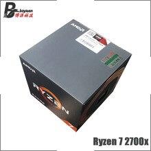 Amd ryzen 7 2700X R7 2700X 3.7 ghz 8 コアシックスティーンスレッドcpuプロセッサL3 = 16 メートル 105 ワットYD270XBGM88AFソケットAM4 新機能とファン