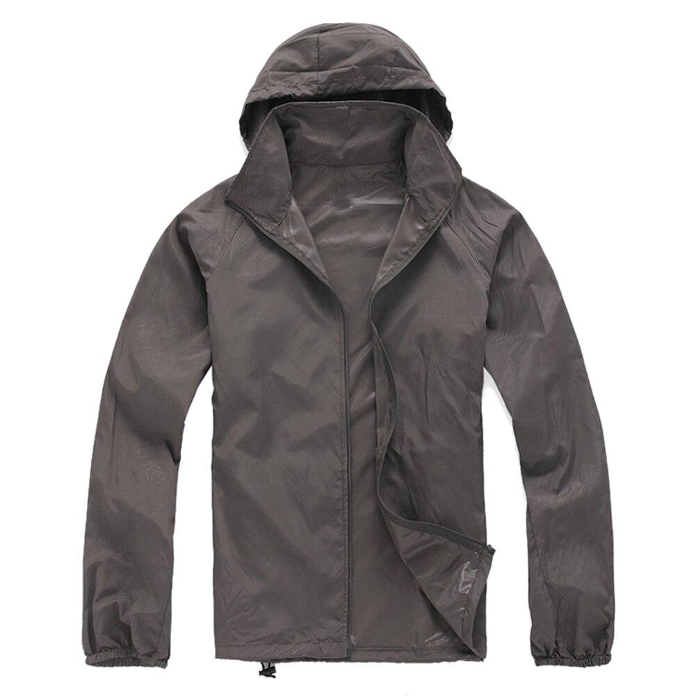 Открытый Унисекс Велоспорт Бег Водонепроницаемый ветрозащитная куртка Дождевик-серый или черный