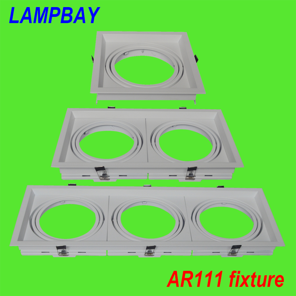 10 Pack Free Shipping AR111 fixture aluminum white face QR111 fitting led grille light